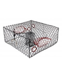 "COATED SMALL CRAB TRAP 8""H BK"