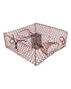 "COATED SMALL CRAB TRAP 8""""H RD"